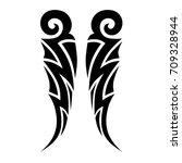 tattoo tribal vector design.... | Shutterstock .eps vector #709328944