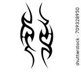 tattoo tribal vector design.... | Shutterstock .eps vector #709328950