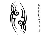 tattoo tribal vector design.... | Shutterstock .eps vector #709328983