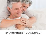 mature woman hugging her... | Shutterstock . vector #70932982