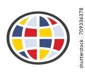 globe logo isolated on white...   Shutterstock .eps vector #709336378