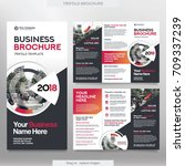 business brochure template in... | Shutterstock .eps vector #709337239