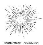 retro sunburst   grungy vector... | Shutterstock .eps vector #709337854