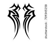 tattoo idea art design for girl ... | Shutterstock .eps vector #709345258