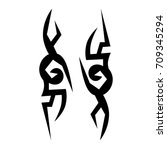 tribal tattoo art designs.... | Shutterstock .eps vector #709345294