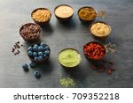 composition with assortment of... | Shutterstock . vector #709352218