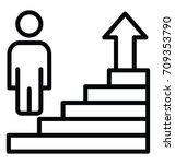 career advancement vector icon | Shutterstock .eps vector #709353790
