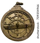 astrolabe   ancient... | Shutterstock . vector #709354966
