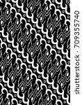 motif batik from center java... | Shutterstock .eps vector #709355740
