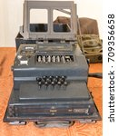 Small photo of Parma, Italy - september 2015: The Enigma Cipher Coding Machine from World War II