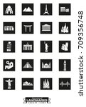 square black icons of... | Shutterstock .eps vector #709356748