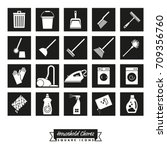 collection of household chores... | Shutterstock .eps vector #709356760