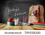 school background and free... | Shutterstock . vector #709358200