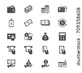 money flat icons   Shutterstock .eps vector #709358608