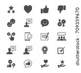 feedback and review flat icons | Shutterstock .eps vector #709359670