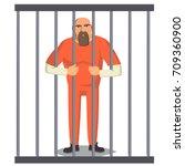 prisoner man vector. criminal... | Shutterstock .eps vector #709360900