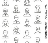people symbols seamless pattern.... | Shutterstock .eps vector #709362796