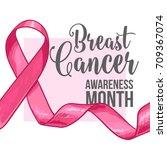 breast cancer awareness month... | Shutterstock .eps vector #709367074