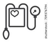 tonometer line icon  medicine...   Shutterstock .eps vector #709376794