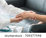 geriatric doctor  geriatrician  ... | Shutterstock . vector #709377598