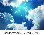 space of night sky with cloud... | Shutterstock . vector #709382743