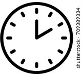 clock vector icon | Shutterstock .eps vector #709389334