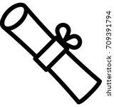 degree vector icon | Shutterstock .eps vector #709391794