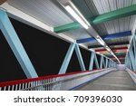 modern foot bridge | Shutterstock . vector #709396030