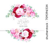 stylish mix of flowers... | Shutterstock .eps vector #709396534