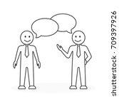 business meeting illustration.... | Shutterstock . vector #709397926