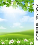vector nature landscape with... | Shutterstock .eps vector #709398910