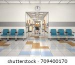 interior design hospital... | Shutterstock . vector #709400170