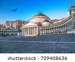 View of Piazza del Plebiscito, Naples,Italy