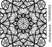 oriental floral pattern.  ... | Shutterstock . vector #709409203