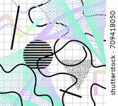 modern geometric abstract... | Shutterstock .eps vector #709418050