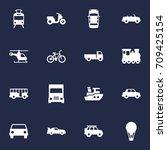set of 16 traffic icons set...   Shutterstock .eps vector #709425154