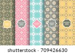 retro style different seamless... | Shutterstock .eps vector #709426630