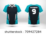 blue and black layout football... | Shutterstock .eps vector #709427284