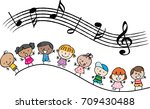 kids with music | Shutterstock .eps vector #709430488