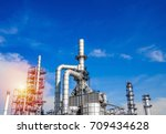 industrial zone the equipment... | Shutterstock . vector #709434628