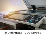 button of copy machine  a... | Shutterstock . vector #709439968