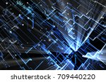 blue abstract futuristic... | Shutterstock . vector #709440220