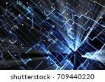 blue abstract futuristic... | Shutterstock . vector #709440220