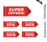 sale and special offer banner ... | Shutterstock .eps vector #709443586