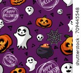 happy halloween | Shutterstock .eps vector #709445548