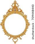 antique golden frame isolated...   Shutterstock .eps vector #709448440