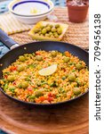 Small photo of Traditional spanish rice dish - vegetable paella