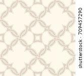 portuguese tiles  quatrefoil... | Shutterstock .eps vector #709457290