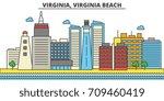 virginia  virginia beach.city... | Shutterstock .eps vector #709460419