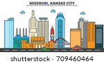 missouri  kansas city.city... | Shutterstock .eps vector #709460464